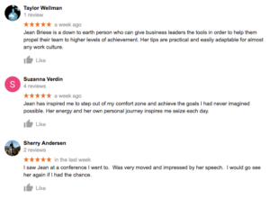 Google Reviews for Jean Briese